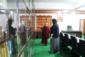 Deputy Speaker touring Ms. Berr at the library of the Tibetan Parliamentary Secretariat.