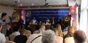 Chief Guest Deputy Speaker Acharya Yeshi Phuntsok speaking at the inaugural event.