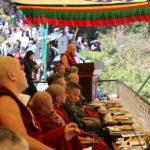Speaker Khenpo Sonam Tenphel addressing the gathering at the celebration.