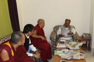 Shri A.K. Anthony, member of Rajya Sabha with the Tibetan Parliamentary Secretaiat