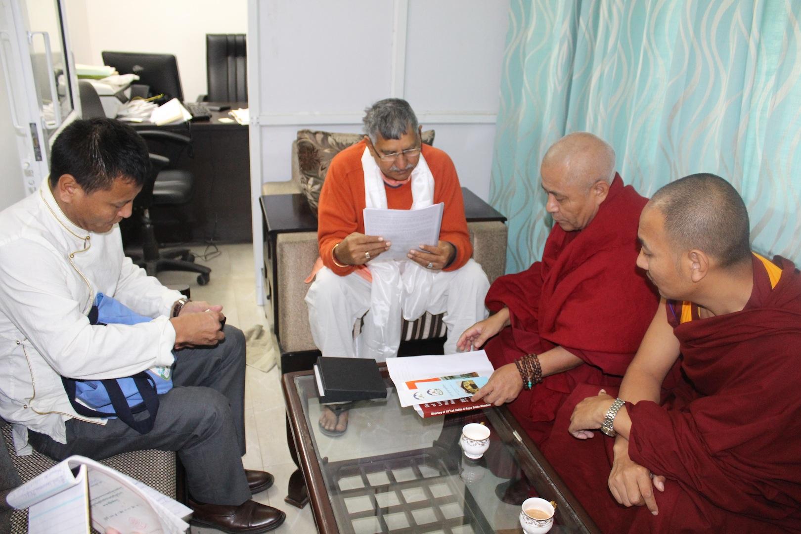 Shri Dharambir Singh, member of Lok Sabha with the Tibetan Parliamentary Secretaiat
