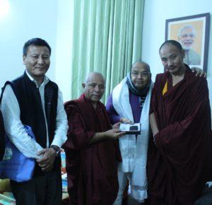 Shri Dr. Bhola Singh, member of Lok Sabha with the Tibetan Parliamentary Secretaiat