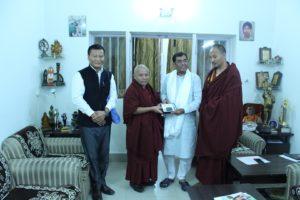 Shri Dr Kirit Premjibhai Solanki, member of Lok Sabha with the Tibetan Parliamentary Delegation.
