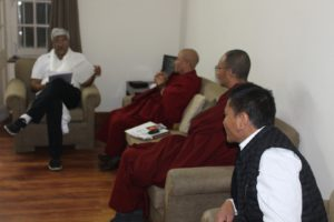 Shri Gajendra Singh Shekhawat, member of Lok Sabha with the Tibetan Parliamentary Delegation.