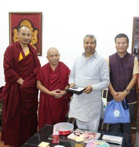 Shri Mahendra Pandey, Secretary of BJP Office with the Tibetan Parliamentary Secretaiat