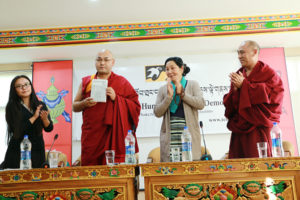 Speaker Khenpo Sonam Tenphel at the book launch on 28 November 2016.