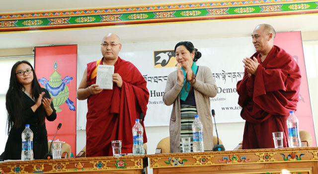 Speaker Launches Book by Tibetan Activist and Peace Marcher