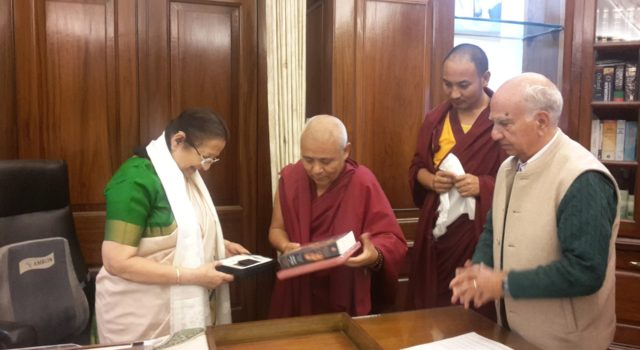 The Tibetan Parlimentary Delegation with the Speaker of Lok Sabha