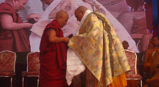 Deputy Speaker Acharya Yeshi Phuntsok attended 10th anniversary of the Holy Maha Samadhi Bhoomi Mahavihara