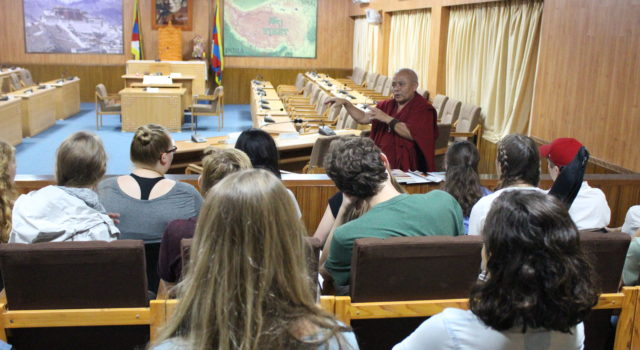 Professors and students from University of Arkansas Visit Tibetan Parliament