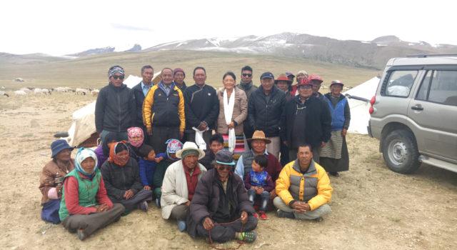 Parliamentarian Mrs. Samten Choedon's Ladakh visit concluded successfully