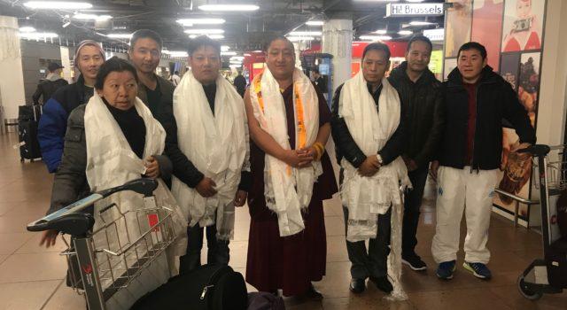 Tibetan Parliamentary Delegation arrives in Brussels, Belgium