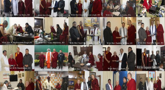 Tibetan Parliamentary delegation calls upon Indian lawmakers as their Winter session proceeds in the capital city of India