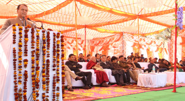 Deputy Speaker Ven. Acharya Yeshi Phunstsok and Parliamentarian Lobsang Choejor attend India's 69th Republic Day function at Dharamsala