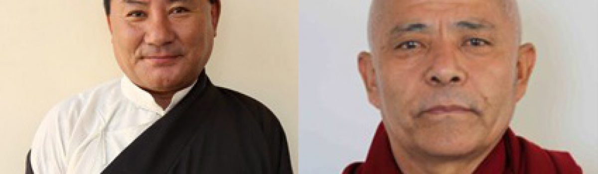 Speaker and Deputy Speaker  of Tibetan Parliament to attend the long life offering at Bodhgaya