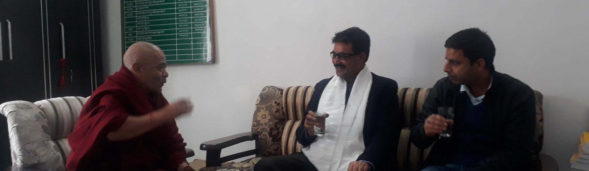 News 18 Haryana, Editor Mukesh Rajpoot visits Tibetan Parliament-in-Exile