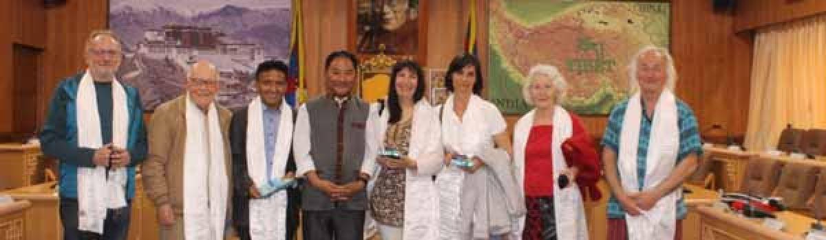Members of Tibet Les Enfants de L'espoir visits Tibetan Parlaiment-in-Exile