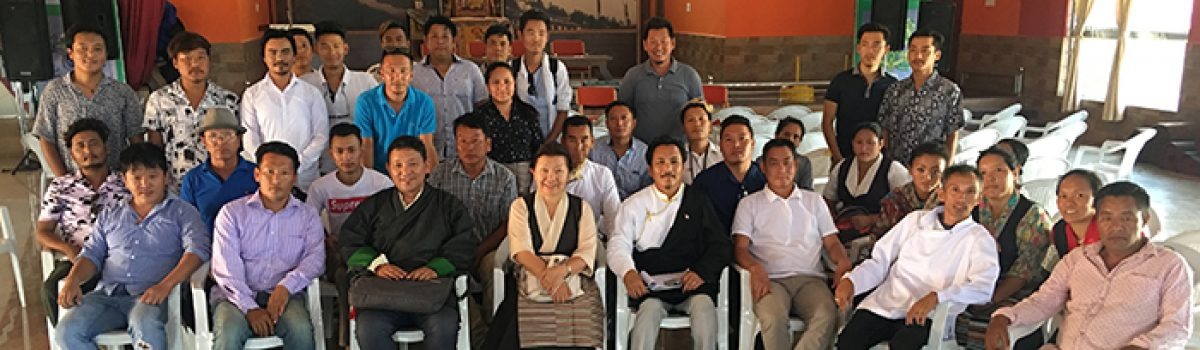 Parliamentarians Dolma Tsering and Dhondup Tashi visited Hunsur Tibetan Settlement