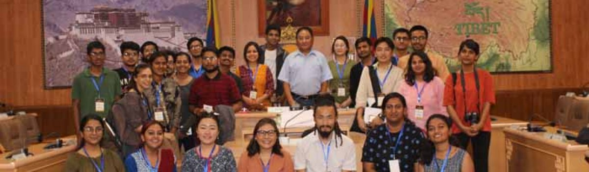 28 Students from Foundation for Universal Responsibility of His Holiness the Dalai Lama visited Tibetan Parliament-in-Exile