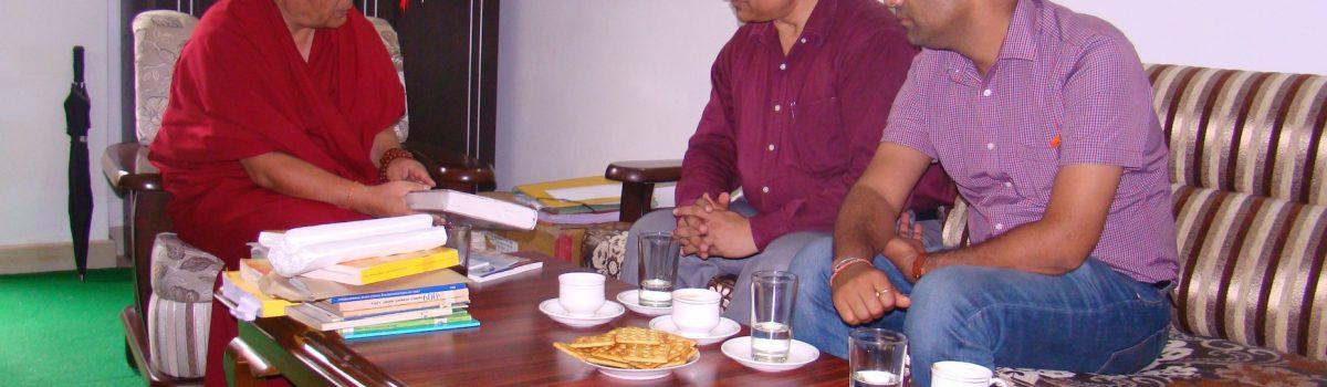 Prof. Tejinder Sharma, director of Kurukshetra University Visited Tibetan Parliament-in-Exile