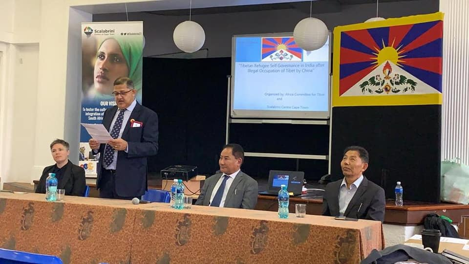 Speaker of the Tibetan Parliament in Exile, Mr Pema Jungney gave a Presentation about the Brutal occupation of Tibet by the Chinese and the Governance of Tibetan refugee in Exile