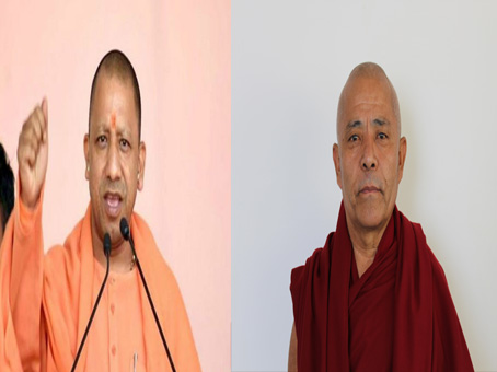 Deputy Speaker Acharya Yeshi Phuntsok offers condolence over the demise of CM Yogi Adityanath's father