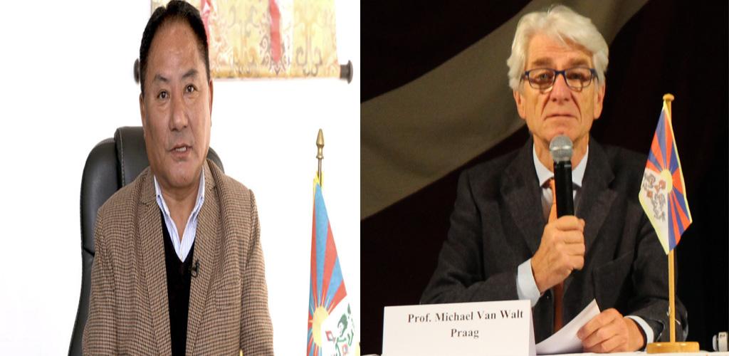 Speaker Pema Jungney Congratulates Dr. Michael van Walt van Praag on being awarded Knighthood
