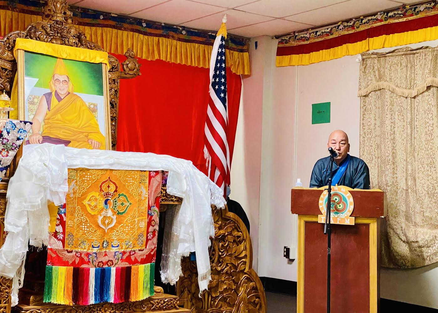 Parliamentarian Tsewang Rigzin addresses Minnesota's celebration of 13th-anniversary of Congressional Gold Medal to His Holiness the Dalai Lama