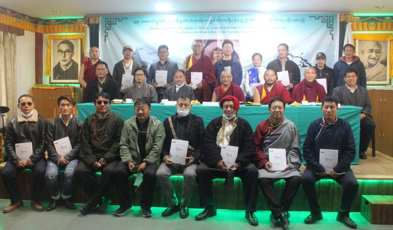 Speaker Pema Jungney launches a book entitled 'Drichu' by the Khampa Writers Group